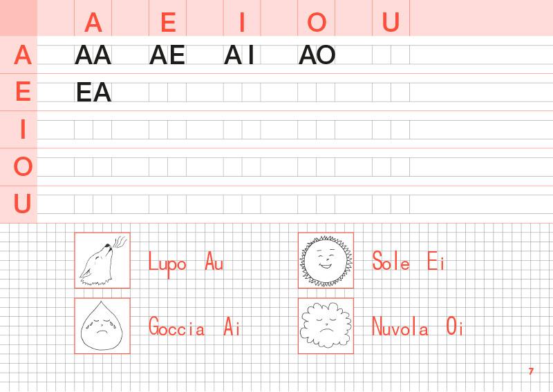 Quaderno per imparare a scrivere e a leggere lo stampato maiuscolo e minuscolo
